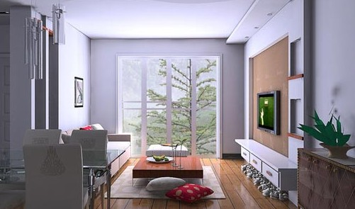 酷!时尚电视背景墙 看小户型客厅装修