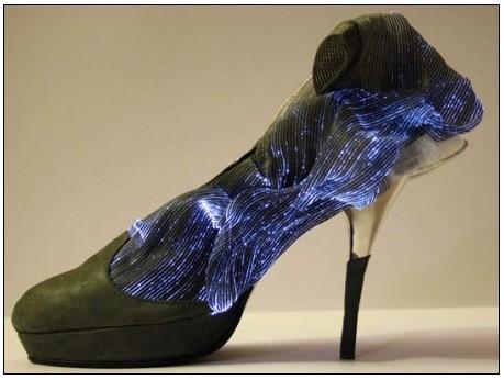 发光的高跟鞋 当led与时尚相结合